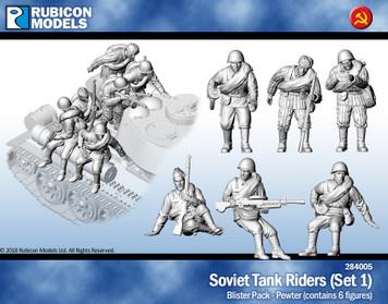 Soviet Tank Riders- Pewter