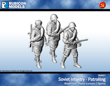 Soviet Infantry Patrolling- Pewter
