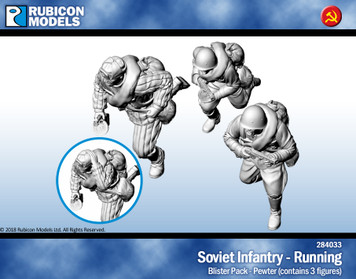 Soviet Infantry Running- Pewter