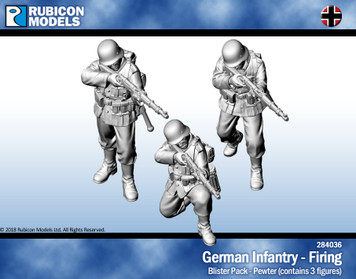 German Infantry Firing- Pewter