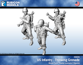 US Infantry Throwing Grenade- Pewter