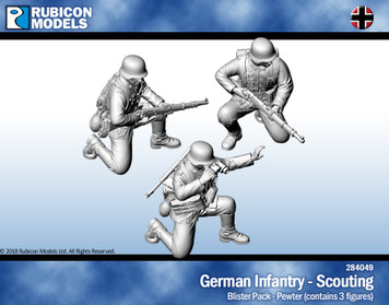 German Infantry Scouting- Pewter