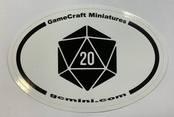 "GCM ""d20"" Oval Sticker"