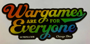 """Wargames are for Everyone"" Sticker"