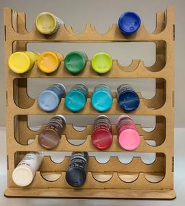 Vertical Paint Rack For 2oz Craft Paints - 36mm Diameter Bottles