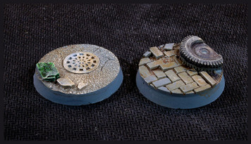 Battle Ready Bases: Urban Warfare Bases Round 32mm (x8)