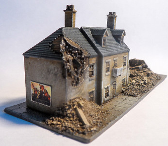 6mm Block of Ruined Buildings - 285VAC002