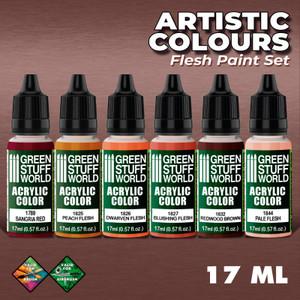 Green Stuff World: Paint Set - Flesh