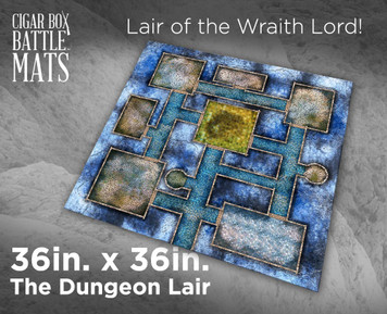 Battle Mat - The Dungeon Lair 3'x3'