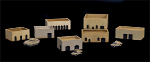 One Story Buildings With Walled Roof Area  (Resin) - 285MEV029