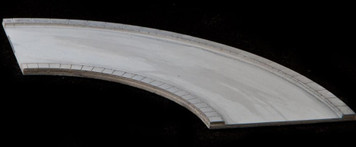 90 Degree Curve, 4 Lane Road, Large Radius - 3MMROAD019