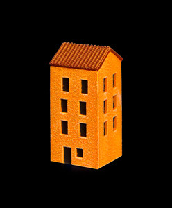 4 Story Building With Red Tile Roof - 285ITM012