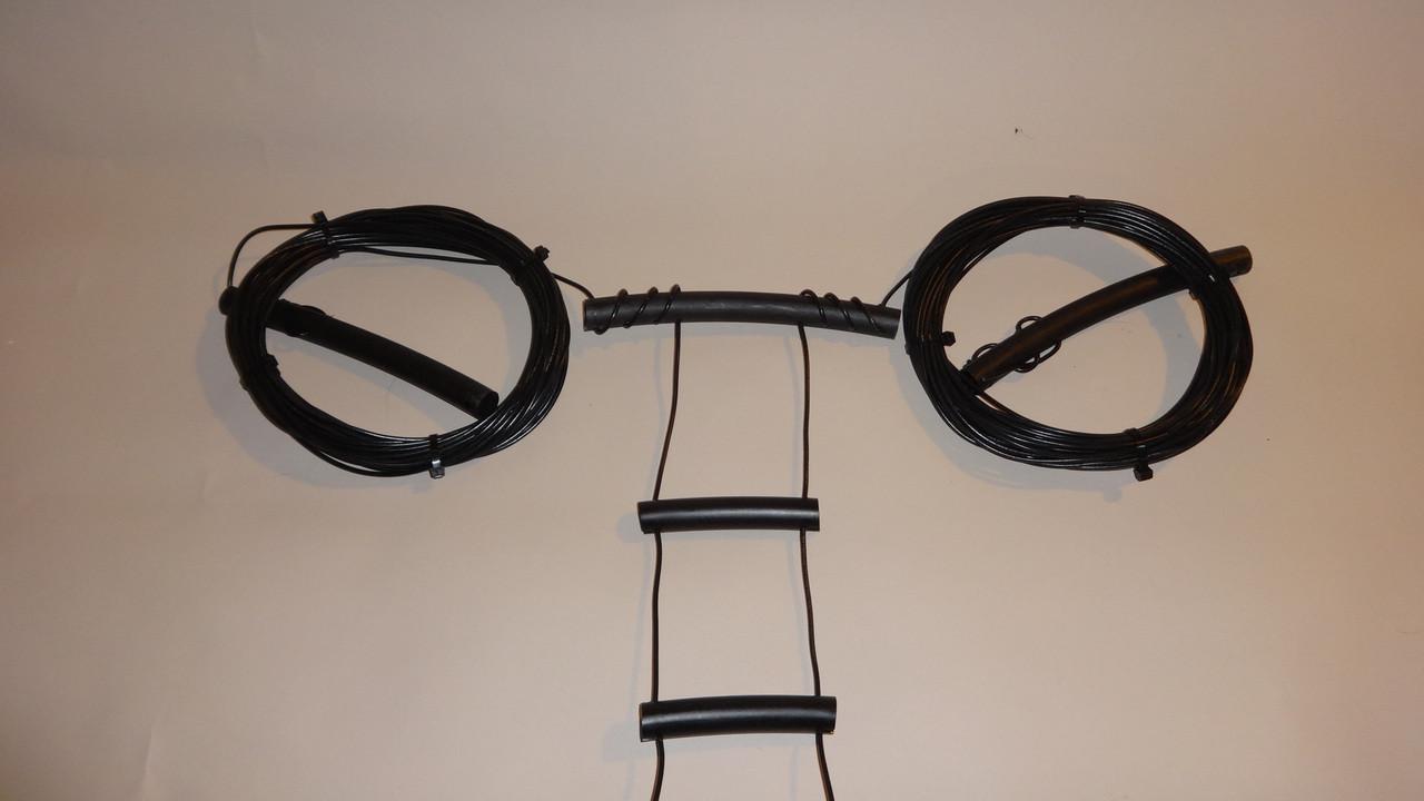 40-10 Meter W7FG True Ladder Line Open Wire Fed Dipole 65' Dipole 100'  Feedline