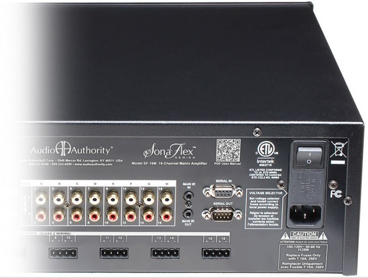 Audio Authority SF-16M back right