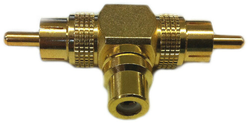 RCA female to two RCA male splitter adapter