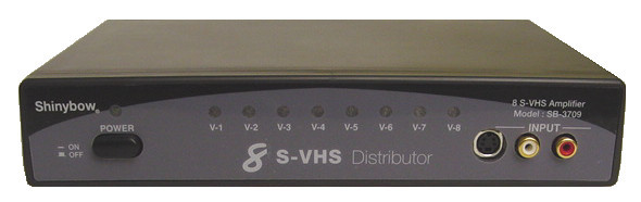 1x8 AV Distribution Amp with Composite and S-Video, Stereo Audio