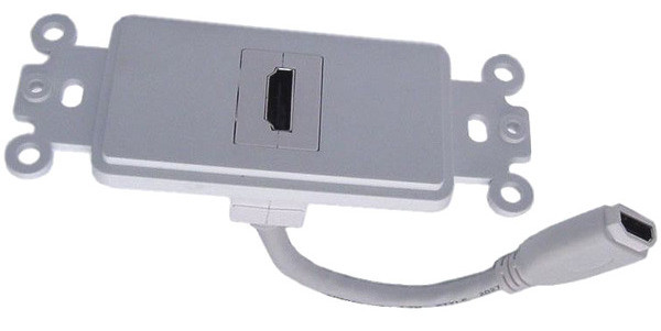 HDMI connector Wall Plate with Pigtail connection