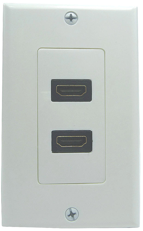 Dual HDMI connector Wall Plate with Pigtail connections