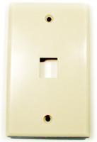 Keystone full size Wall plate, Almond with 1 port