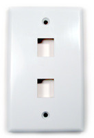 Keystone full size Wall plate, white with 2 ports
