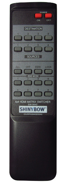 Shinybow SB-5645LCM remote control