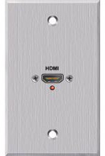 Panelcrafters Aluminum HDMI female pass through Wallplate