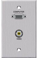 Panelcrafters PC-G1540-E-P-C VGA and 3.5mm audio wallplate