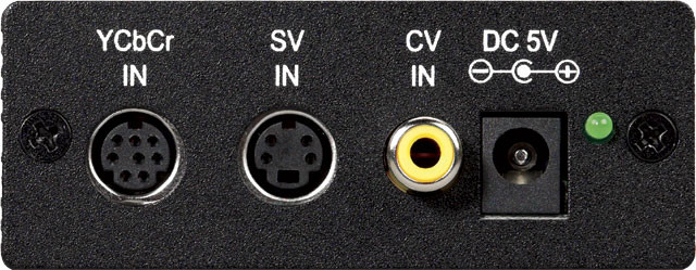 Composite video and S-Video output