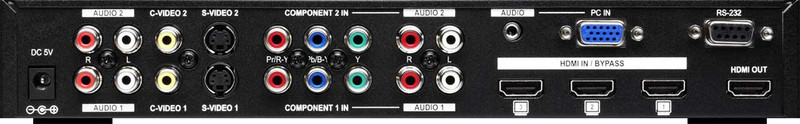 AVT-6071 Multi-format Switch inputs and outputs