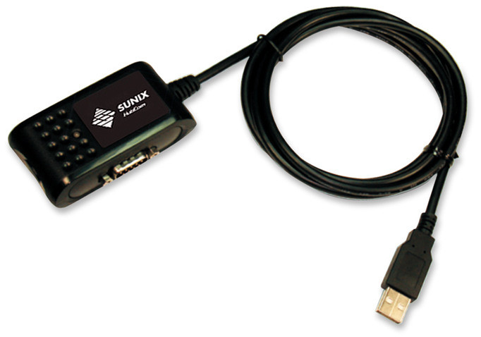 USB to dual serial RS-232 serial converter, 2 DB9 Males to USB A Male