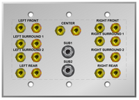 9.2 Home Theater Speaker Wall Plate for Dolby Atmos, DTS:X and AURO-3D