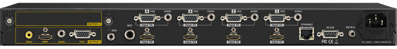 4x4x1 HDMI and VGA Quad-PiP-PoP Selector Switch Scaler