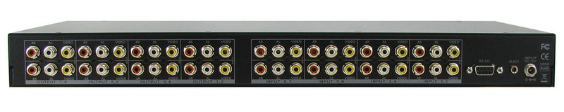 Shinybow SB-5548LCM 8x8 Composite Video, Stereo Audio and Digital Audio Matrix Routing Switcher, rear