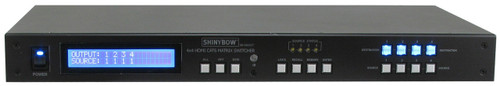 Shinybow SB-5645LCM-CT 4x4 HDMI and HDBaseT Matrix Switcher