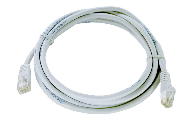 White Category 6 patch cable