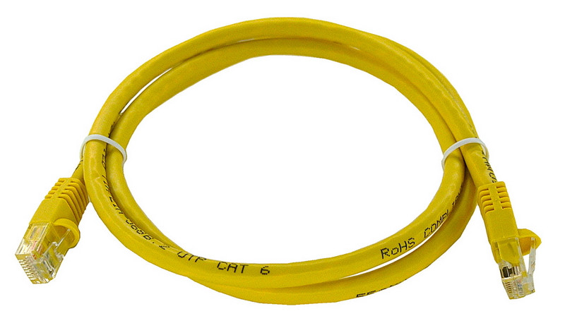 yellow Category 6 patch cable