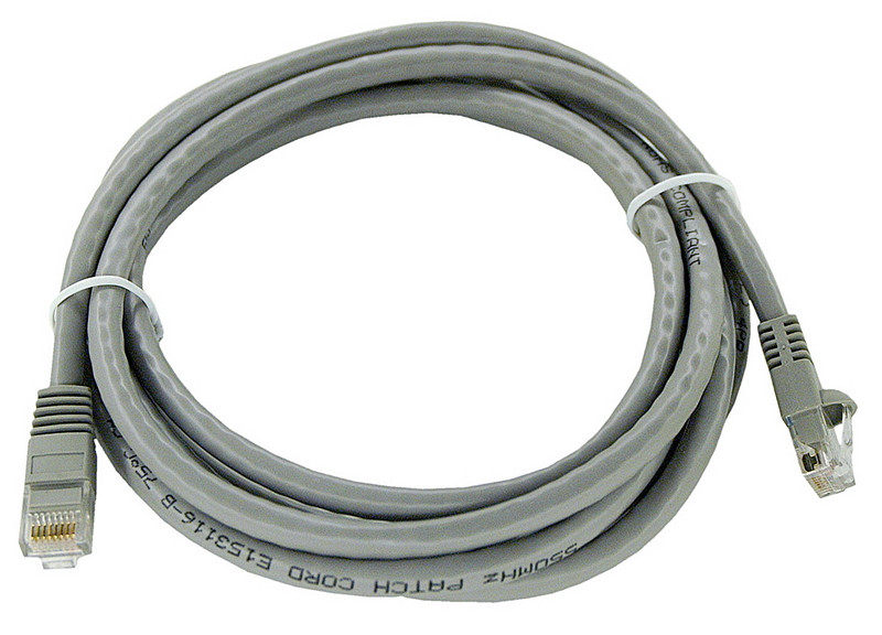 gray Category 6 patch cable