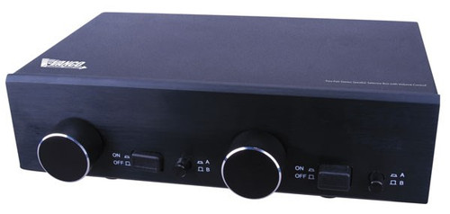 Two Pair Stereo Speaker Selector Box with Volume Control