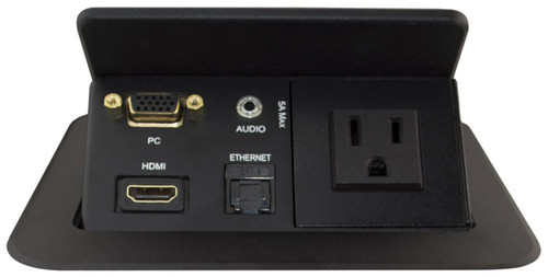 Square Table Box with HDMI, VGA, Audio, LAN and Power