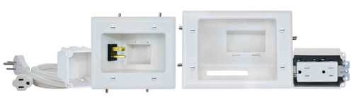 Recessed Pro-Power Kit with Duplex Receptacle and Straight Blade Inlet