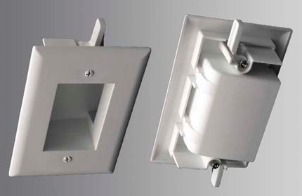 Easy Mount Low Voltage Cable Plate, Slim Fit