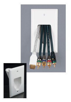 Recessed Low Voltage Cable Plate views