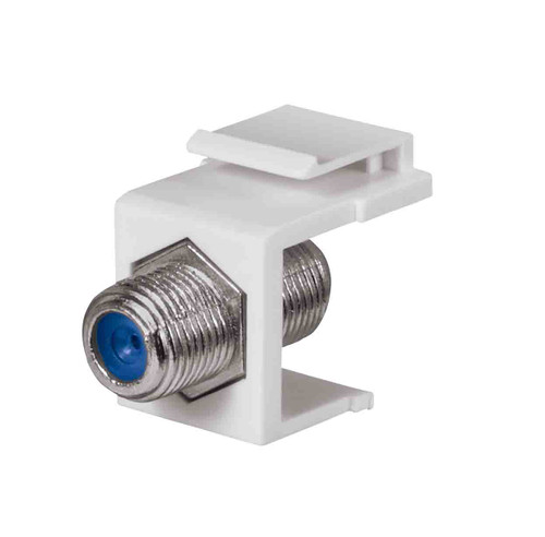 Keystone Jack with 2.4 GHZ F-Connector, White