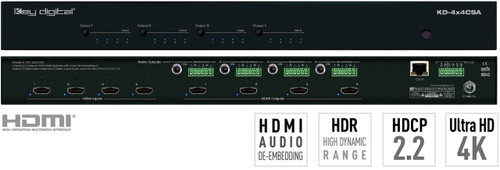 Key Digital KD-4x4CSA 4x4 HDMI Matrix Switcher