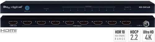 Key Digital KD-DA1x8 1x8 HDMI Ultra-HD 4K Distribution Amp