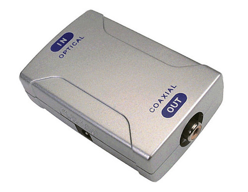 toslink optical to coax digital audio converter