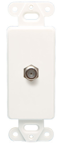 Coax Wall Plate Decor, White