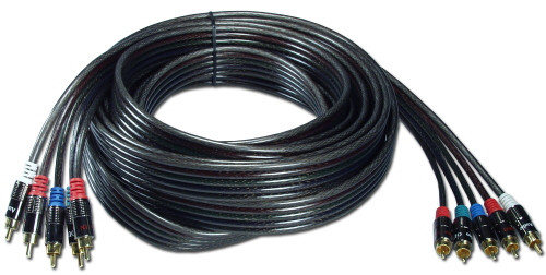 Component Video Cable with audio, 50 feet long, 5 RCA connectors