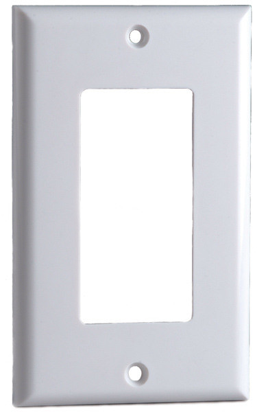 Designer Style Wall Plate Surround, Single Gang, in Ivory