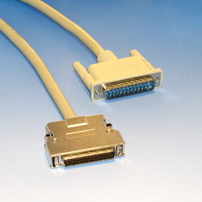 SCSI cable, DB25 Male to HD50 male,6 feet long